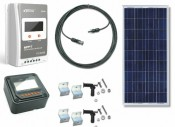 RV165-EPS-MPPT-20 165 Watt Solar Panel RV Kit with 12VDC 20A MPPT Solar Controller and EPS Remote