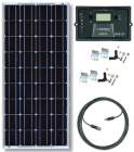 100 Watt Solar Panel RV Kit with Flush Mount 30A Solar Controller