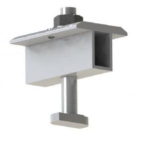 Mid clamp solar panel racking