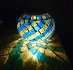 SOLAR-GLOBE-GREEN-TABLE Solar Powered LED Table Lamp