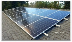 Solar Panel electric grid tie system using a SolarEdge inverter along with P-400 Power Optimizers