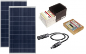 2 x Solar Panels Poly 265 watt Solar with a Morningstar TS-30-MPPT Solar Controller and remote display