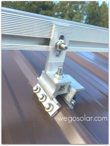 Corruslide Solar Panel Roof Mount Solution For Corrugated