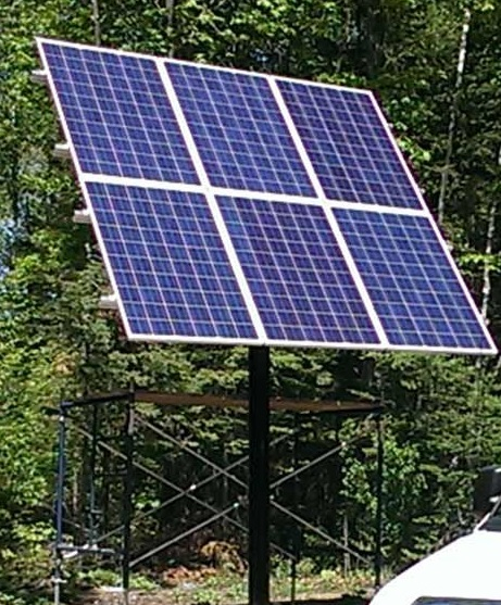 Six Panel Adjustable Angle Solar Panel Mount Pole Post