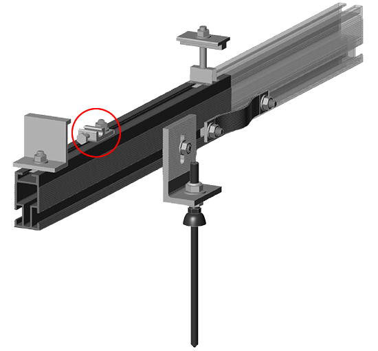 fast-rack drop in ground lug for rail wiring