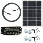 RV50-SS6 Solar Panel 50W RV Kit with 6A 12VDC PWM Sunsaver Solar Controller