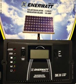 EWC 30 Amp Solar Controller Enerwatt 30A 12VDC LCD Display regulator Flush mount PWM Solar Controller