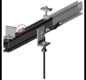 Fast Rack drop-in ground lug for rail ground wiring